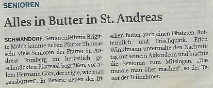 Alles in Butter in St. Andreas